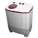 POLYTRON Mesin Cuci Twin Tub [PWM 7556WR] - Red - Mesin Cuci Twin Tub